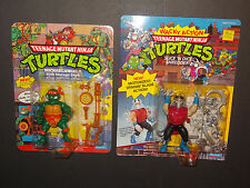 1990 TMNT Lot STORAGE SHELL MIKE & WACKY SHREDDER MOC PLAYMATES Ninja Turtles