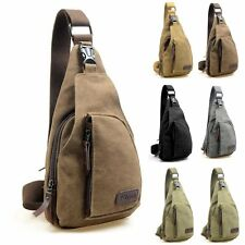 Men's Vintage Canvas Messenger Shoulder Bag Military Travel Satchel Bag Backpack