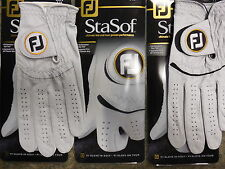 THREE (3) NEW 2015-2016 FootJoy StaSof Golf Gloves, PICK A SIZE,#1 Glove in Golf