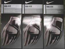 THREE (3) NEW Men's 2016 NIKE Dri-Fit TECH II White Golf Gloves, PICK A SIZE
