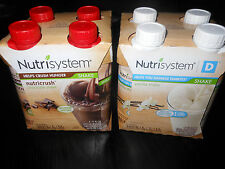 Nutrisystem shakes 4 chocolate OR vanilla** Nutricrush bottles GRAB N' GO