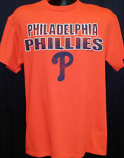 Philadelphia Phillies Majestic Baseball Red T-Shirt Tee with Navy Team Wordmark