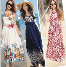 Long Boho Summer Beach Evening Party Dress Chiffon Dress Sexy Women Dress   Maxi