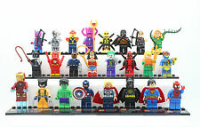 24 Sets Super Heroes Avenger Iron man Hulk Batman Custom MiniFigures Blocks Toys