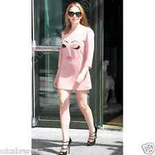 MOSCHINO CHEAP AND CHIC Blush pink Wink Dress siz 8 Style worn by Kylie Minogue
