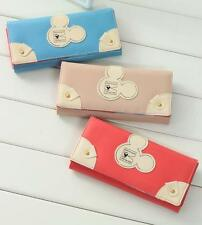 Fashion Lady Women Mickey Head Clutch Wallet Long Card Holder Case Purse Handbag