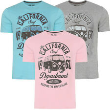 New Mens Sth Shore Surfcamper Printed Short Sleeved T-Shirt Top Size S-XXL