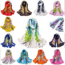 Hot Women Chiffon Silk Long Soft Neck Lady Scarf Shawl Wrap Stole Scarves New 57