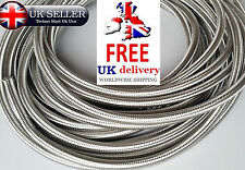 Stainless Steel Braided Hose Rubber Braid Fuel Line Hose Petrol Pipe Oil Coolant
