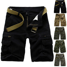 Fashion Mens Casual Army Cargo Camo Outdoor Work Shorts Pants Short Trousers