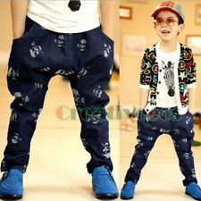 Trendy Kids Boys Skull Dinem Harem Trousers Toddlers Pants Costume 2-7 Years New