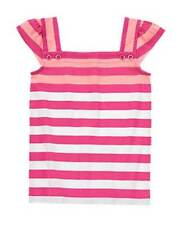 NWT Gymboree Girls Bright and Beachy Pink Orange Striped Top Size 4 5 6 8