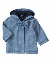 NWT Gymboree Baby Girls Chambray Polka Dot Bow Jacket Size 3-6-12-18-24 M