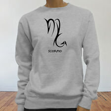 Horoscope Water Mars Zodiac Scorpio Astrological Sign Womens Gray Sweatshirt