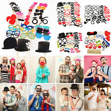 DIY Photo Booth Props Mustache Masks Glasses On A Stick Wedding Birthday Party
