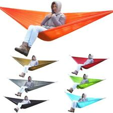 OUTDOOR CAMPING HANGING DOUBLE 2 PEOPLE TRAVEL PARACHUTE HAMMOCK SWING CHAIR BED