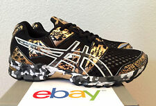 NEW WOMENS ASICS GEL NOOSA TRI 8 GOLD CAMO Size 6-6.5 black stability triathlon