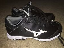 NEW MIZUNO 9 Spike Swift 3 Switch Womens Softball Metal Cleats Black White Sz 6