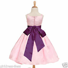Pink Baby Easter Party Picture Wedding Flower Girl Dress 12M 18M 2 4 6 8 10 12