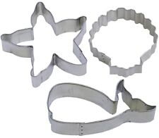 3 Piece Whale Starfish Seashell Cookie Cutter Set Birthday Party Gift