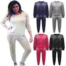 Celebrity Inspired Jess Wright Diamante Wing Two Piece Tracksuit