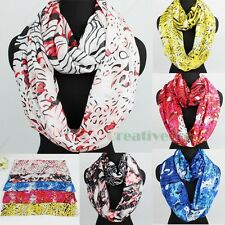 Fashion Women's Irregular Pattern Soft Infinity 2Loop Cowl Eternity Casual Scarf