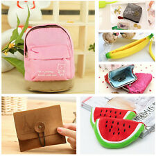 Quality Watermelon Banana Sequined Coin Purse Wallet Bag Canvas Pocket LL