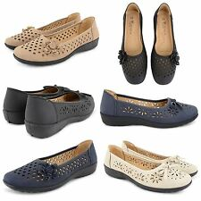 WOMENS LADIES FLAT LOAFERS SHOES FLOWER LOW HEEL BALLERINA DOLLY BALLET PUMPS