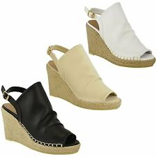 NEW WOMENS LADIES PLATFORM ESPADRILLE MID HIGH HEEL WEDGES SANDALS SHOES SIZE