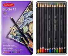 Derwent 12 Pce Studio - Artist - Pastel - Watercolour Coloured Pencils