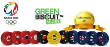 """NEW Green Biscuit """"Olympic"""" Hockey Puck - Sochi 2014 (3"""" Diameter x 1"""" Thick)"""