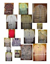 NEW Blouses - Camp Shirts Short Sleeve Choice of Colors Plus Sze 18 20 XL 2X 3X