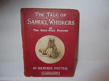 BEATRIX POTTER VINTAGE BOOK THE TALE OF SAMUEL WHISKERS OR THE ROLY POLY PUDDING