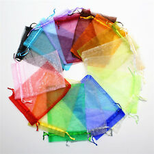 100pcs 10*12cm Organza Gift Bag Sheer Bags Jewellery Beads Wedding Candy Package