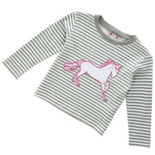 Girls 4-5, 5-6 Years  Horse Long Sleeve T- Shirt Top - Piccalilly Organic Cotton