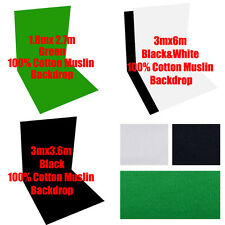 Photography Muslin Backdrop100% Cotton Photo 3Colors Background Video Studio Kit
