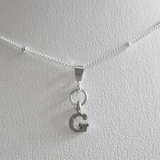Initial 'G' Mini Pendant Charm and Necklace- Free Shipping