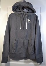 NWT MENS ABERCROMBIE & FITCH GRAY TURTLE NECK FULL ZIP SWEATER JACKET COAT SZ M