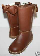 baby Gap NWT Girl's 9 Brown Boots - Faux Leather Riding Boots w/ Bow