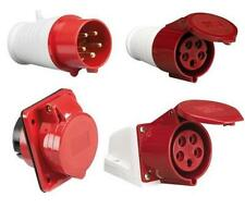 415V 16A 5Pin Red Industrial Plug & Sockets IP44 Industrial Plugs and Sockets
