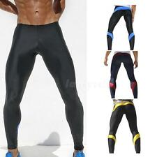 Men Stretch Tight  Gym Long Legging Pant Sport Running Pants Sexy Male Sweatpant