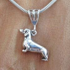Dachshund Large Pendant Charm and Necklace- Free Shipping