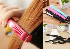 Ceramic Electronic Iron Straightening Curls Mini Pink comb Hair Straightener
