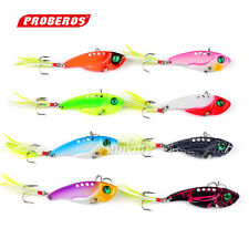 8pc Spoon Lures 8 Color Metal Fishing Baits 11.1g-5cm Fishing Lures 6# Hook Bass