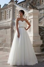 NEW White/Ivory Wedding Dress Bridal Gown Proms Party Deb evening Ball Pageant