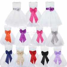 Flower Girls Kids Wedding Bridesmaid Party Pageant Princess Tulle Formal Dresses