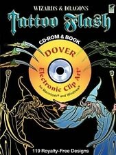 USED (GD) Wizards and Dragons Tattoo Flash CD-ROM and Book (Dover Electronic Cli