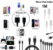 1M MICRO USB Cable Charger Sync Data Wire Lead For Various Sony Xperia Phones UK
