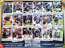 RARE INDIANAPOLIS COLTS 2010 LUCAS OIL STADIUM OPEN HOUSE POSTER - MINT!
