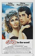 Grease 1978 Classic Comedy/Musical Movie POSTER John Travolta Olivia Newton-John